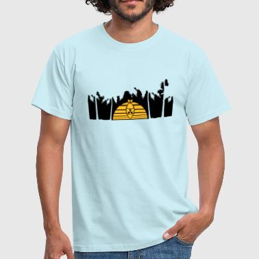 holiday caribbean island vacation atomic test atomic bomb wheel - Men's T-Shirt