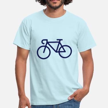 Audax Racing Bicycle / Bike (Icon / Pictogram) - Men's T-Shirt