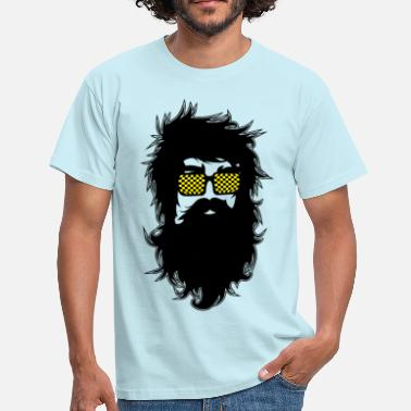 Funny Face Men With Beards & Glasses - Men's T-Shirt