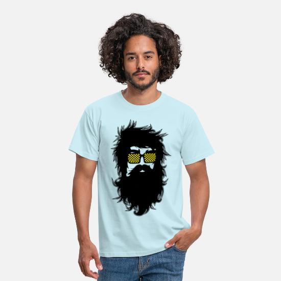 Hipster T-Shirts - Men With Beards & Glasses - Men's T-Shirt sky