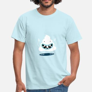 Poop Monster 'Oasi' Monster Monstober DAY 10 - Men's T-Shirt