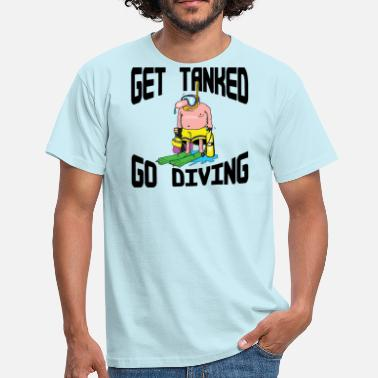 Northumberland SCUBA DIVING FUNNY - Men's T-Shirt