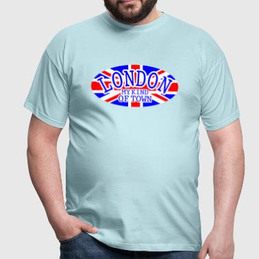 London Town union Jack flag - Men's T-Shirt