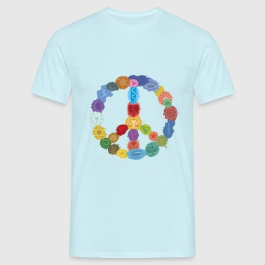 Peace Sign in Colors - Männer T-Shirt