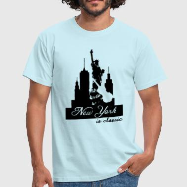 New York is classic USA Klassik Musik Fun Geschenk - Männer T-Shirt