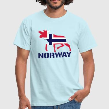Elk Norway Flag - Men's T-Shirt
