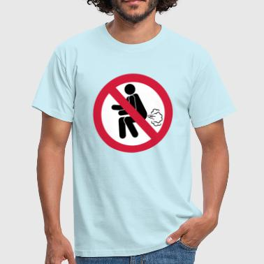 Smelly NO Farting Sign - Men's T-Shirt