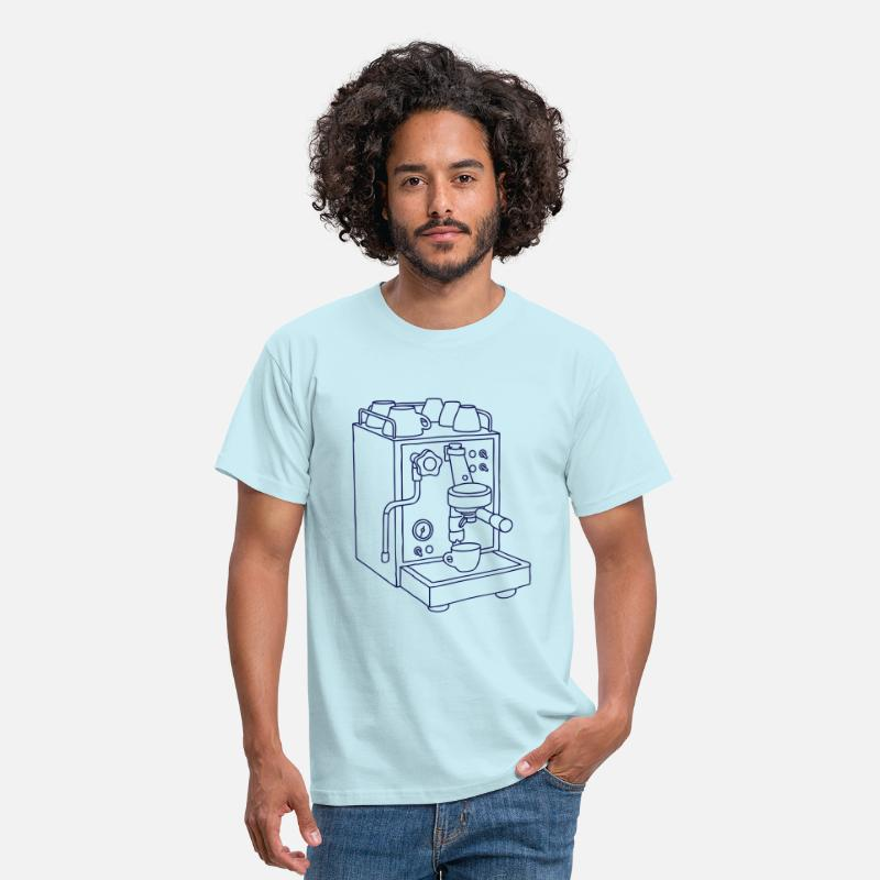 Espresso T-Shirts - Espresso machine Barista - Men's T-Shirt sky