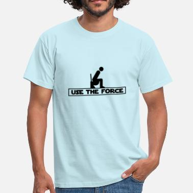 Luke Skywalker Use the Force (Star Wars WC) - Herre-T-shirt