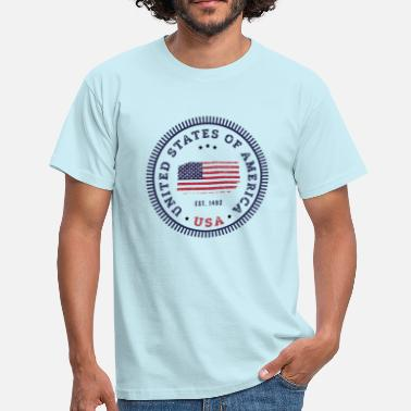 United States UNITED STATES OF AMERICA - Männer T-Shirt