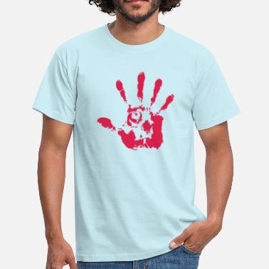 Red Hand Red skull hand - Men's T-Shirt