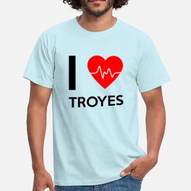 Troyes J'aime Troyes - J'adore Troyes - T-shirt Homme