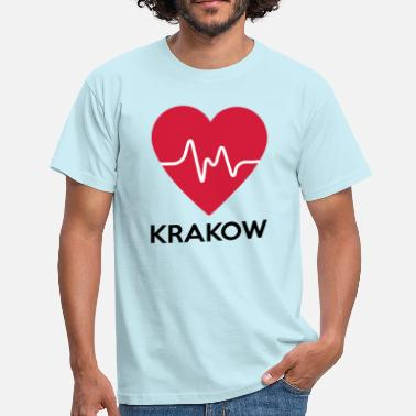 Krakow heart Krakow - Men's T-Shirt