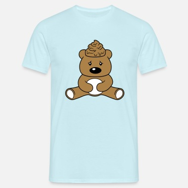 Ba shit shit head feces heap haeufchen disgusting ba - Men's T-Shirt
