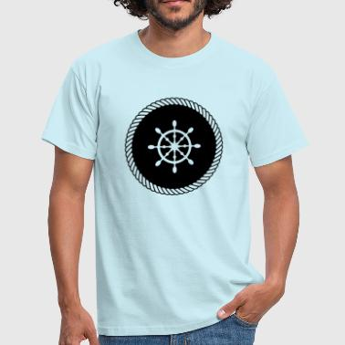 Ship oars in rope / rope logo motive - lake, sea - Men's T-Shirt
