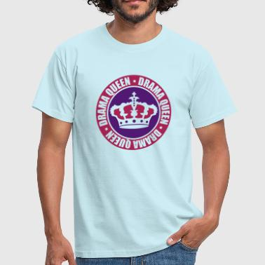 Sexy Verjaardag ring ronde stempel drama queen circle coole vrouw prin - Mannen T-shirt