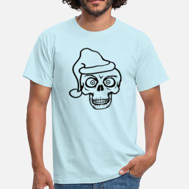 Cartoons horror ogen cool schedel kerstmis kerstman - Mannen T-shirt