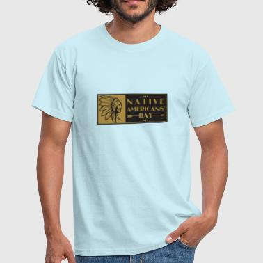 Native American Day Shirt - Mannen T-shirt