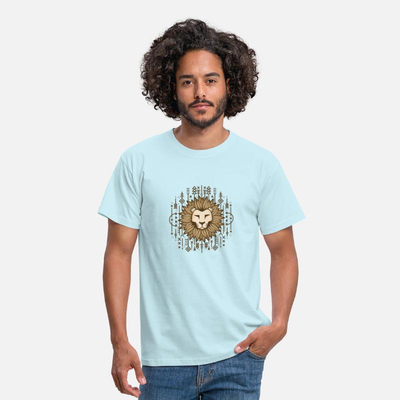 Animal Collection T-Shirts - Lion motif creative gift idea - Men's T-Shirt sky