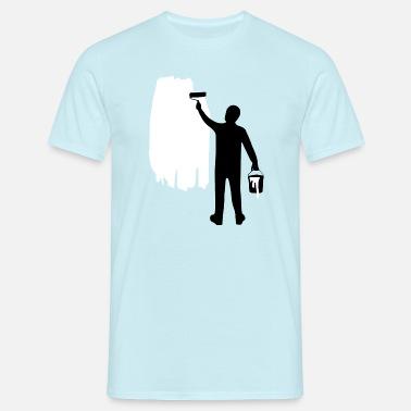 8a57cccbd51506 Hippe Schilder 2- Schilderachtergrond - Mannen T-shirt