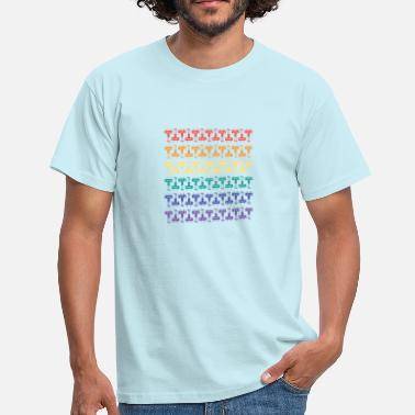 Aliens Rainbow Pattern - Men's T-Shirt