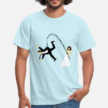 Fish Stag Night Party Bride Fishing A Husband (Stag Hen Party / PNG) - Men's T-Shirt