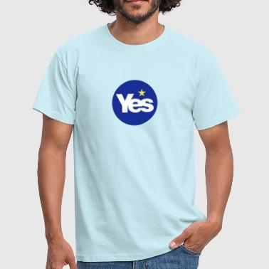 YES to Scottish Independence ( Scotref  )  - Men's T-Shirt