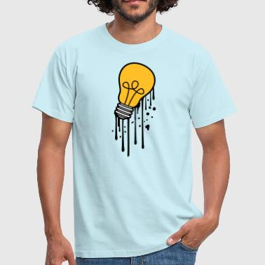 drop graffiti spray melt bulb light - Men's T-Shirt