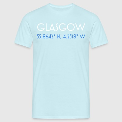 Glasgow Scotland minimalist coordinates - Men's T-Shirt
