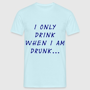 Logical drinking - T-shirt herr