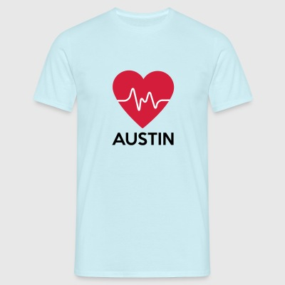 heart Austin - Men's T-Shirt