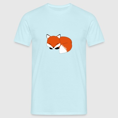 Sleeping fox - T-skjorte for menn