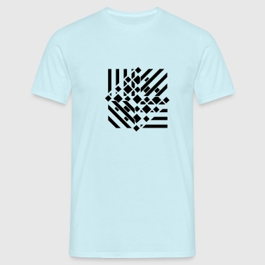 an abstract graphic tattoo pattern - Men's T-Shirt