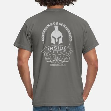 Spartans Hold Fast Originals Fist Spartan Design Silver - Männer T-Shirt