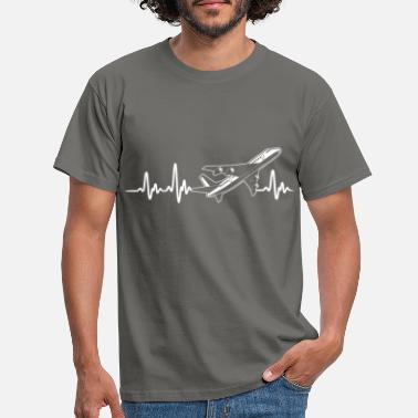 Commercial COMMERCIAL PLANES - HEARTBEAT - Men's T-Shirt