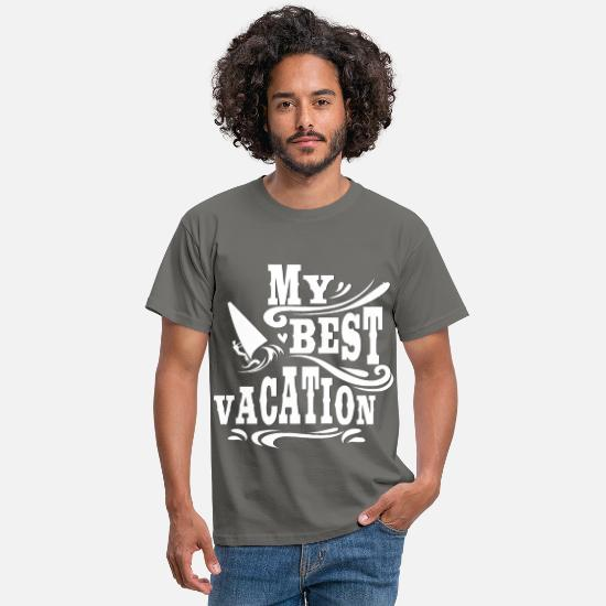 Surfer T-Shirts - Vacation and Surfing - Surfing on vacation - Men's T-Shirt graphite grey