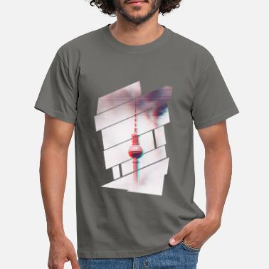 Television TV tower Berlin Glitch - Men's T-Shirt