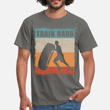 Power Lifting Train Hard / Fitness / Power lifting / workout - Männer T-Shirt