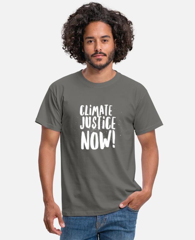 New T-Shirts - Climate Justice NOW! - Men's T-Shirt graphite grey