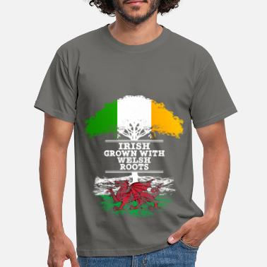 Welsh Irish Grown With Welsh Roots - Men's T-Shirt