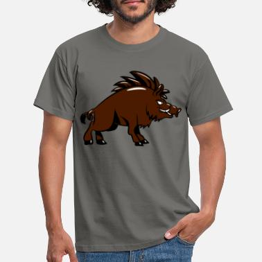 Pig Wild boar nasty witty - Men's T-Shirt