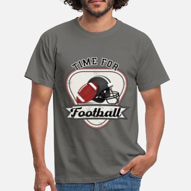 Destroyed Time for American Football Fan - Männer T-Shirt