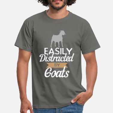 Goat easily distracted by goats, funny goats shirt. - Men's T-Shirt
