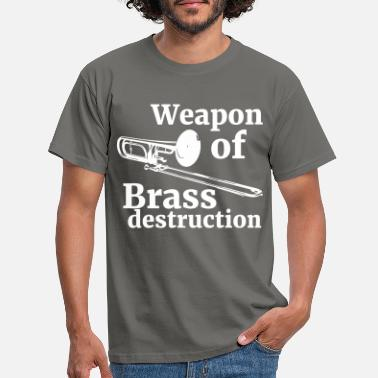 Trombone arme de destruction en laiton | trombone - T-shirt Homme