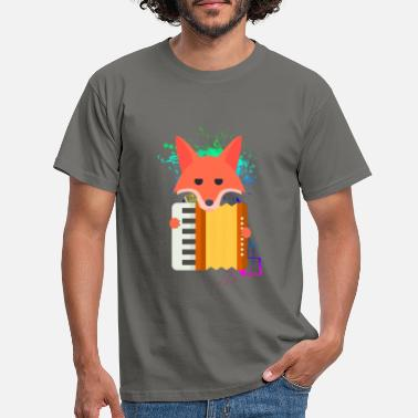 Akkordeon Accordion Fox - Männer T-Shirt