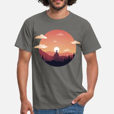 Nature Collection Sunset Comic - Miesten t-paita