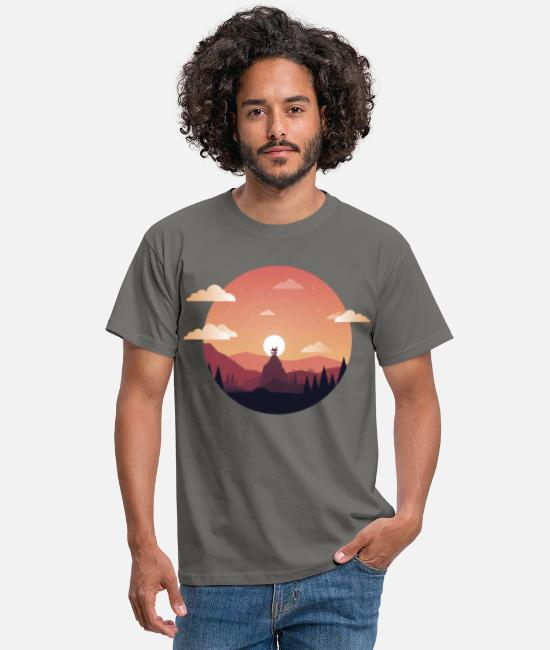 Comic Camisetas - Sunset Comic - Camiseta hombre gris grafito