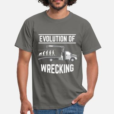 Tow Towing Evolution of Towing - Men's T-Shirt