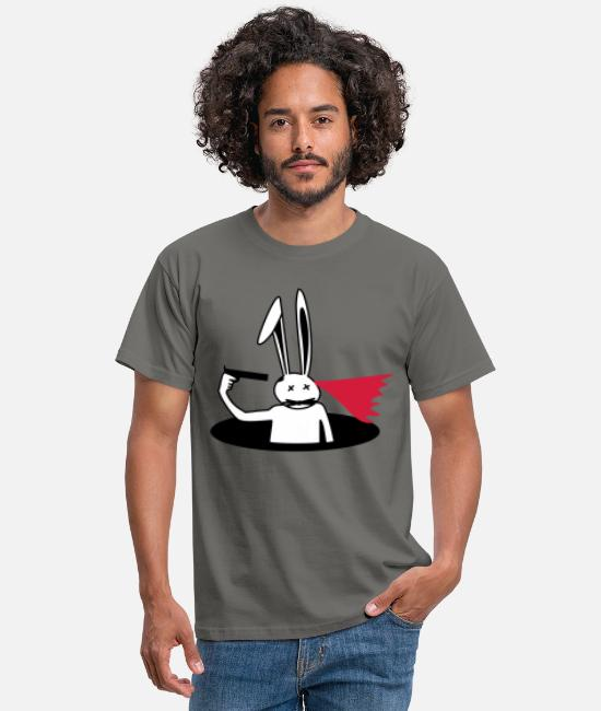 Easter T-Shirts - suicide bunny - Men's T-Shirt graphite grey