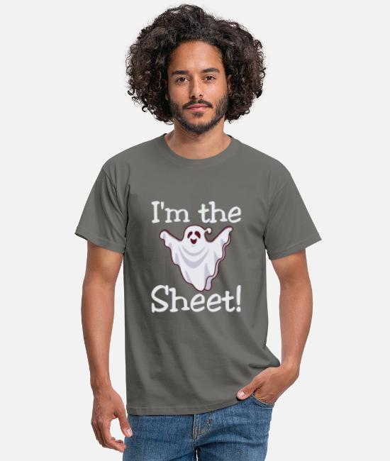 Quote T-Shirts - I'm the Shit Halloween Sayings - Men's T-Shirt graphite grey